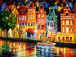 The Sky Of Amsterdam by Leonid Afremov by Leonidafremov