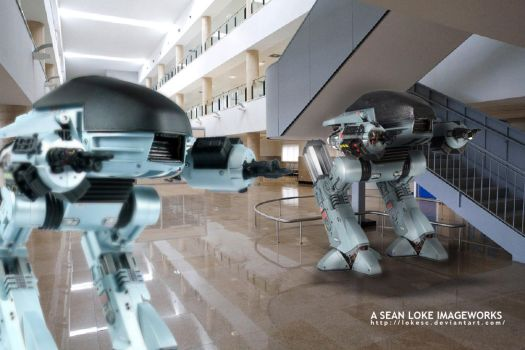 ED-209 on guard at a place near you by lokesc