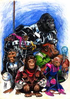 Captain Simian and the Space Monkeys by aangrafis