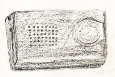 My radio drawn in the 1960s by angelstar22