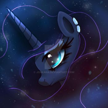 MLP FIM - The Galaxy Of Princess Luna by Joakaha