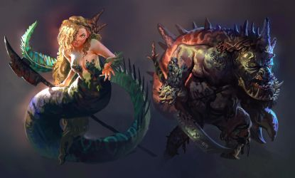 Sea Characters by MikeAzevedo