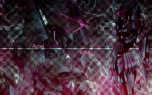 Accel World Wallpaper: Black Lotus (Burst Brain) by Roselliana