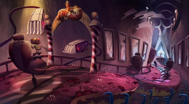 Psychonauts Tribute: The Mad Barbers Mind by Tomsleeps