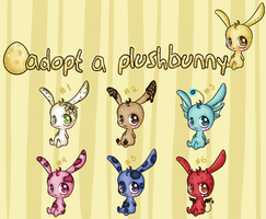 Plushibunns adoptables-hatches by katara-adoptables