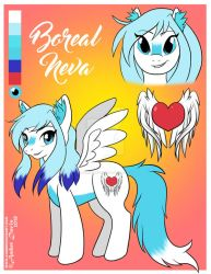 Boreal Neva Reference Sheet by SonicSweeti