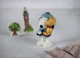 Snoopy Holmes and Woodstock by Keila-the-fawncat