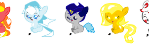 Foal adoptables by Yoshi123pegasister