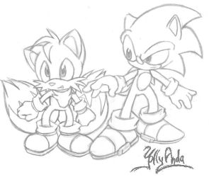 Sonic and Tails by Yolly-anda