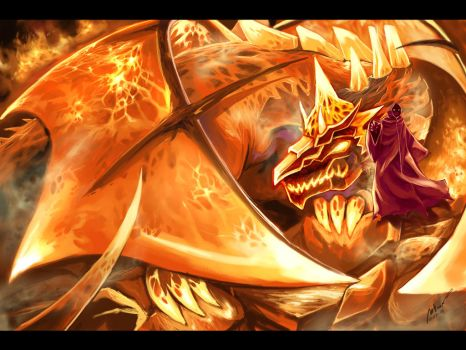 Fire dragon by garun