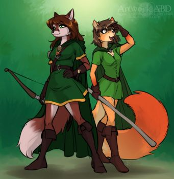 2016 Commission for rebelsqurl by A-BlueDeer
