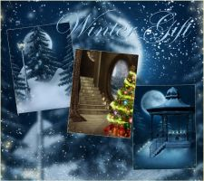 Winter Gift backgrounds by moonchild-ljilja