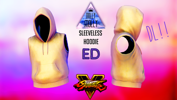 [MMD] SFV Male Sleeveless Hoodie - ED ( DL!! ) by DollyMolly323