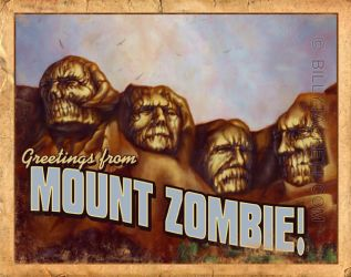 Mount Zombie Postcard by billytackett