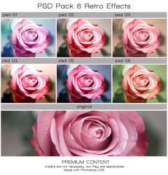 PSD PACK 6 Retro effects. by Heavensinyoureyes