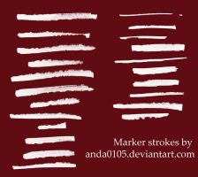 Marker strokes brushes by Ansheen