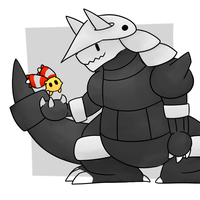 Aggron and Chingling