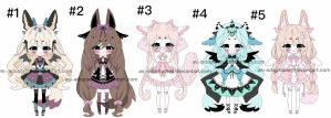 Kemonomini adoptable batch CLOSED by AS-Adoptables