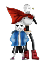 Sans and Papyrus by Jolibe