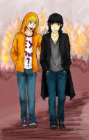 Kenny and Damien by Azareea