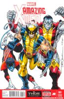 Amazing X-Men sketch variant cover by ToddNauck