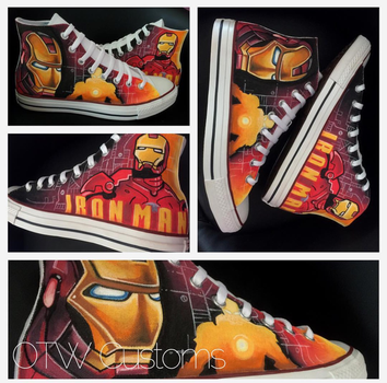 IronMan Custom Converse  by VeryBadThing