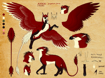 Anna as gryphoness - reference by VixenDra