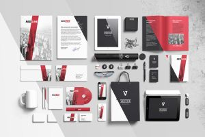 Branding elements mock-ups by Itembridge