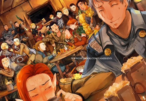 Dragon Age Inquisition: Tavern scene by YamYami-Shin