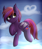 In the sky - commishion by Deraniel
