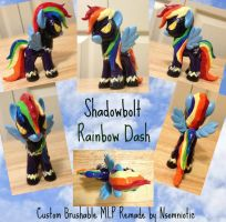 Shadowbolt Rainbow Dash MLP Custom by Nsomniotic