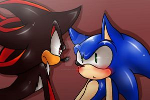 Sonic and Shadow by Rilakkuma-kun