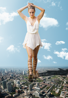 Giantess Kimberly Garner: Goddess of Destruction by dochamps