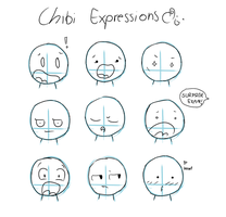 Chibi Expressions by Tawiie