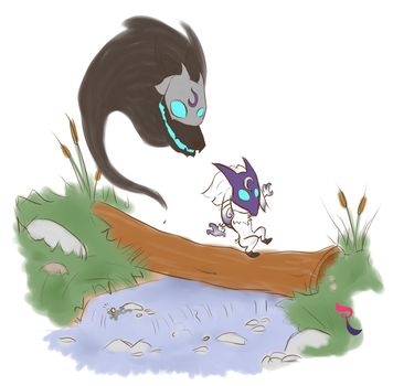 Lil Lamb and her Fox (Kindred) by RejectedSG