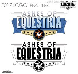 Logo 2016 Ashes of Equestria Lined by Jeffk38uk