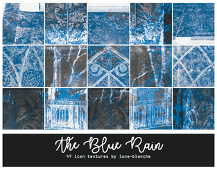 The Blue Rain - Icon Textures #52 by lune-blanche