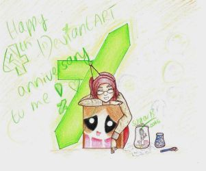 Happy 4th DeviantART anniversary to ME! :D by SugarBubbles2000