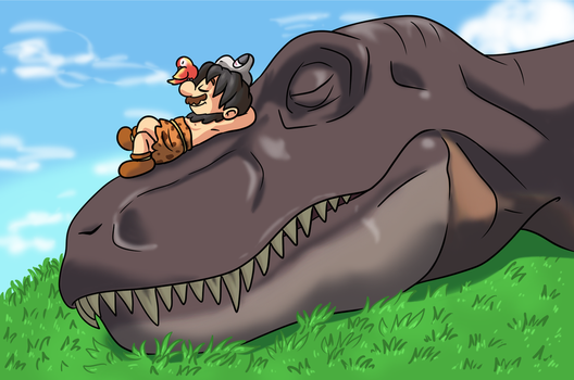 Mario and the Dinosaur by citadel-garden