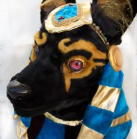 Anubis Fursuit Head by The-SixthLeafClover