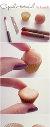 Cupcake tutorial: polymer clay by Kyandi-charms