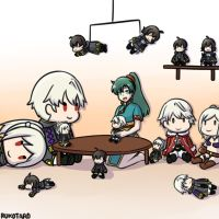 [FE Heroes] Lyn and her Robin Plushies by Rukotaro