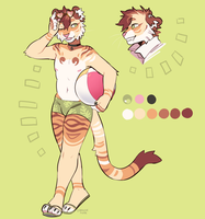 [closed] Tiger summer adoptable AUCTION! by DragonsPurr