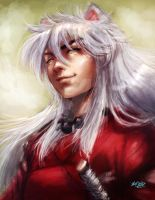 Inuyasha painting by Mark-Clark-II