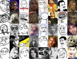 The Many Faces of Kurt Cobain by 3Demma-lee