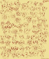 The Lion King Sketches by KrzysztofSokol