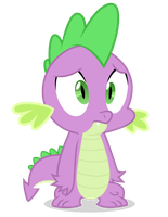 Sad Spike - MLPFiM by JennK777