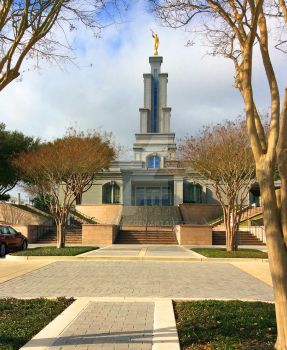 San Antonio TX LDS Temple December Day by Ridesfire