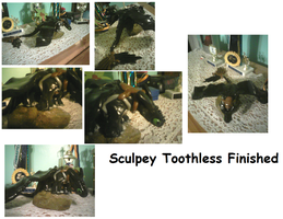 Sculpey Toothless Finished by ShortyLego