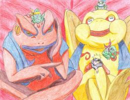 Naruto and his Frog Friends by happylilsquirrel